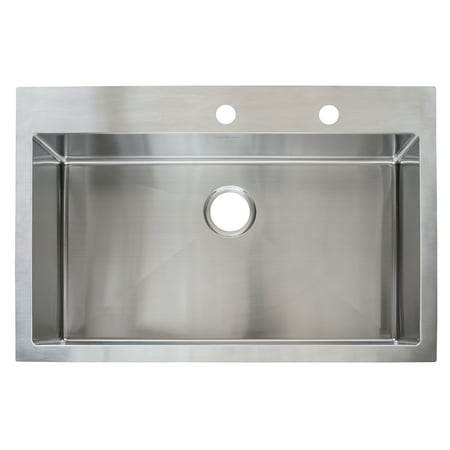 "Franke HFS3322-2 33"" X 22"" X 9"" Stainless Steel Single Bowl Sink"