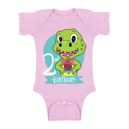 Awkward Styles Jurassic Park Clothes Second Birthday Bodysuit Short Sleeve for Newborn Baby Dinosaur Gifts for 2 Year Old Dinosaur Themed Birthday 2nd Birthday Outfit for Baby Boys and Baby Girls