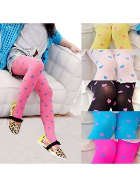 Kacakid Baby Girls Soft Warm Love Heart Pantyhose Long Socks Tights