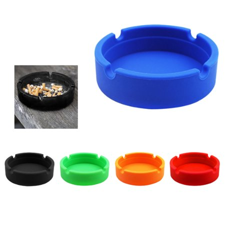 4 X Silicone Ashtray Shatterproof Cigarette Butt Cigar Ashes Bucket Pipe Holder