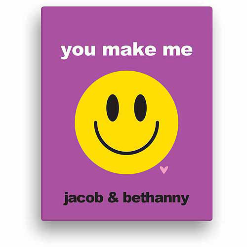 You Make My Smile Personalized Canvas