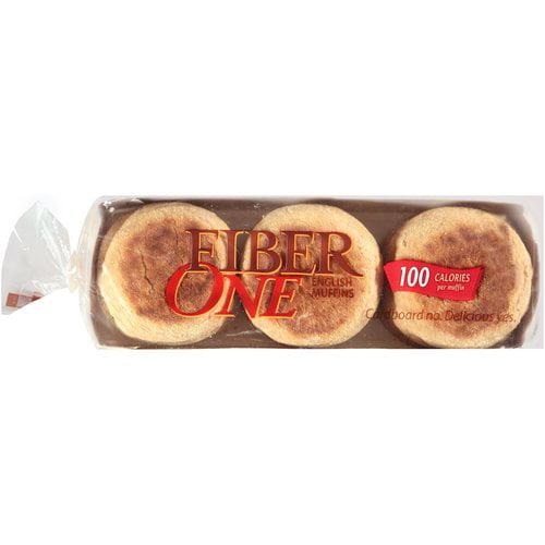 Fiber One Hearty Wheat Multigrain English Muffins, 6 count