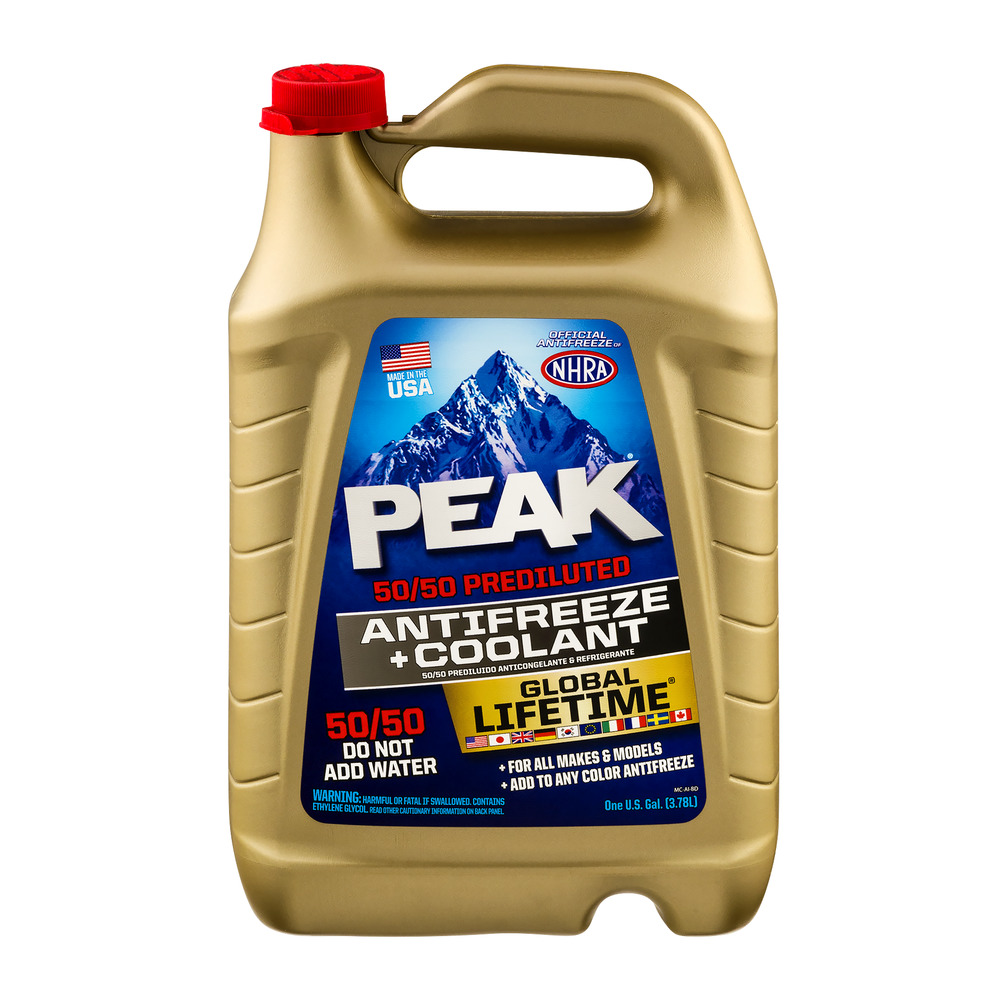 PEAK 50/50 Prediluted Antifreeze + Coolant, 1.0 GAL