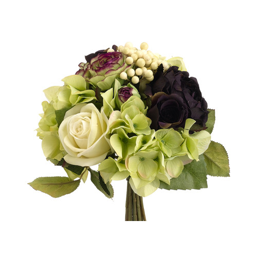 Silk Flower Depot Rose, Ranunculus and Hydrangea Bouquet
