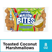 (5 Pack) Kraft Jet-Puffed Mallow Bites Toasted Coconut Flavored Marshmallows, 8 oz Wrapper