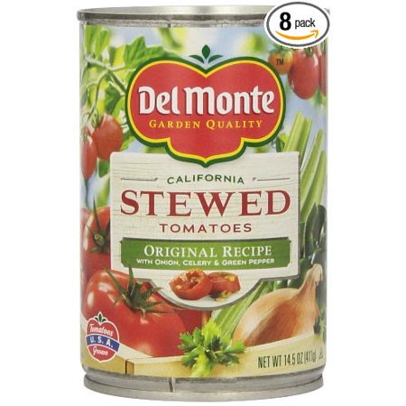 24 PACKS : Del Monte Original Stewed Tomatoes, 14.5-Ounce (Del Monte Diced Tomatoes)