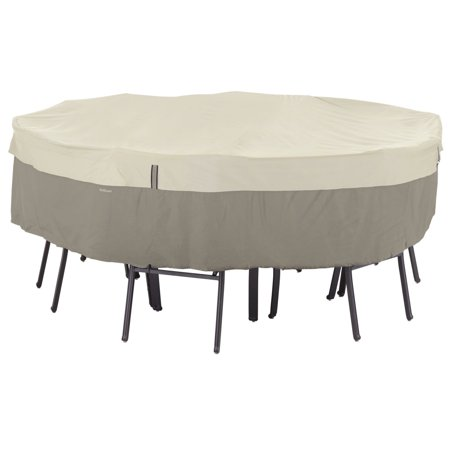 Classic Accessories Belltown Round Table and Chair Patio Furniture Storage Cover, Small, Sidewalk Grey ()