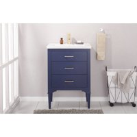 Product Image Design Element Mason 24 Single Sink Bathroom Vanity In Blue