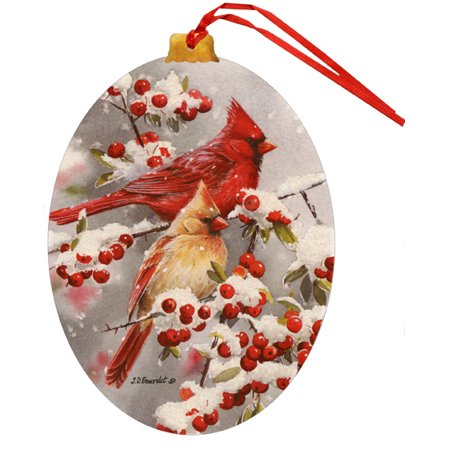 LPG Greetings Winter Jewels Cardinals Keepsake Ornament Box of 12 Christmas Cards