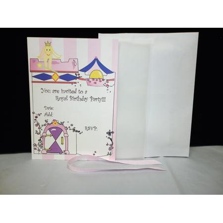 Charmed Royal Princess Birthday Party Invitation; Pink Color; 10 pieces set - Royal Princess Birthday Party
