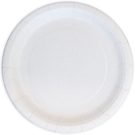 Round Paper Plates, 7 in, White, 24ct ()