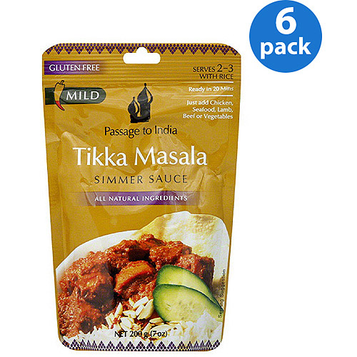 Passage to India Tikka Masala Simmer Sauce, 7 oz, (Pack of 6)
