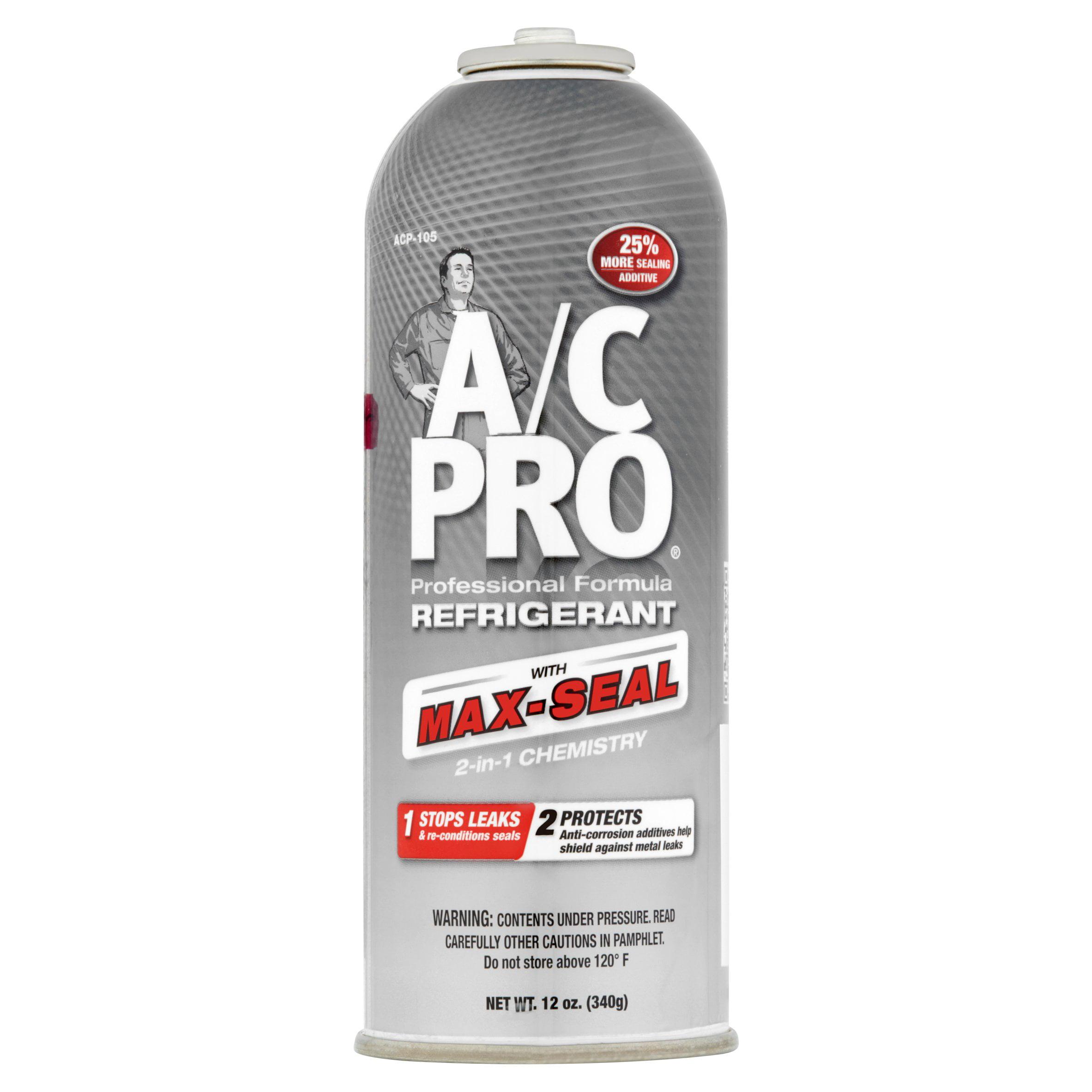 A/C Pro Professional Formula Refrigerant with Max-Seal, 12 oz