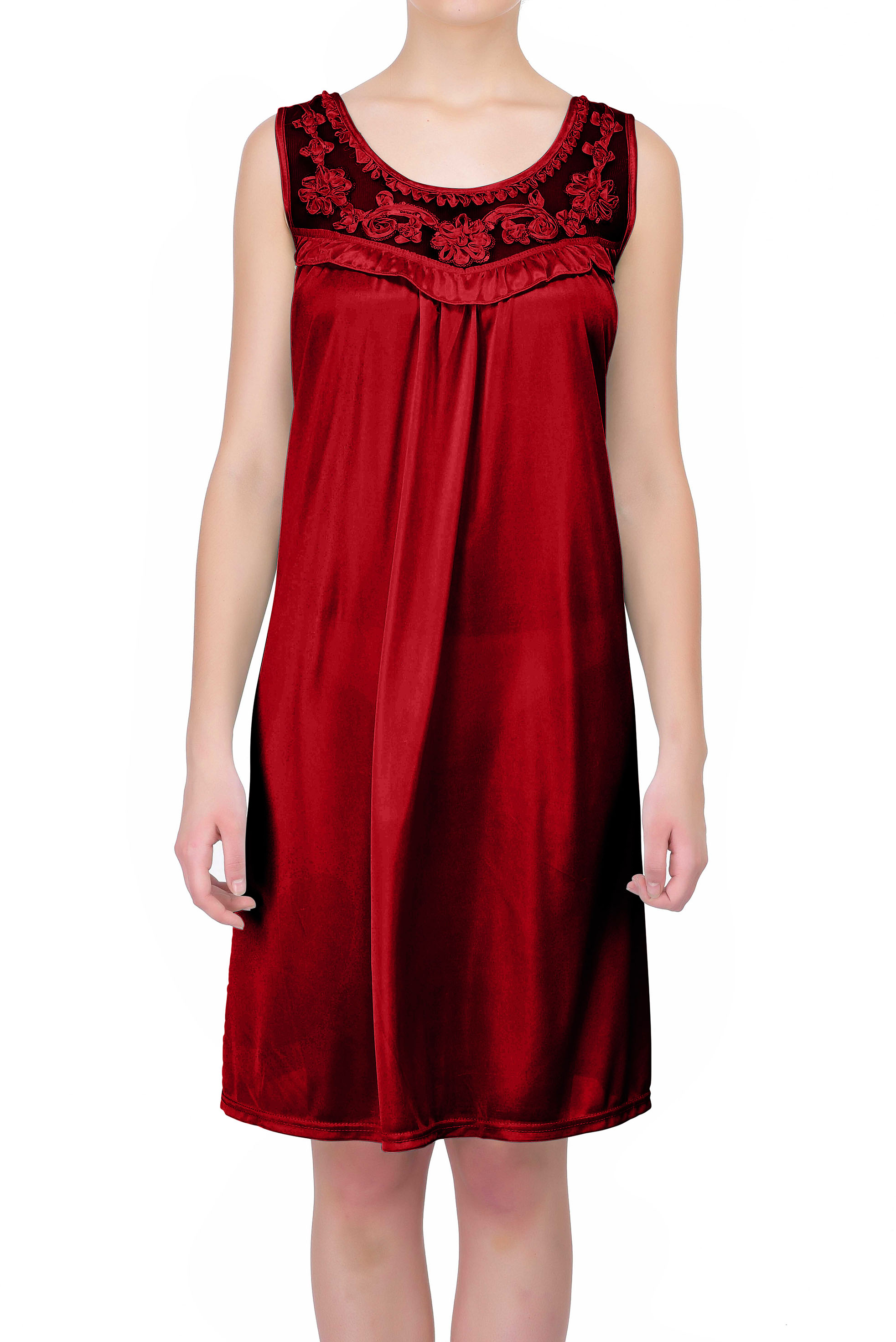 Women's Sheer Silky Sleeveless Nightgown by EZI
