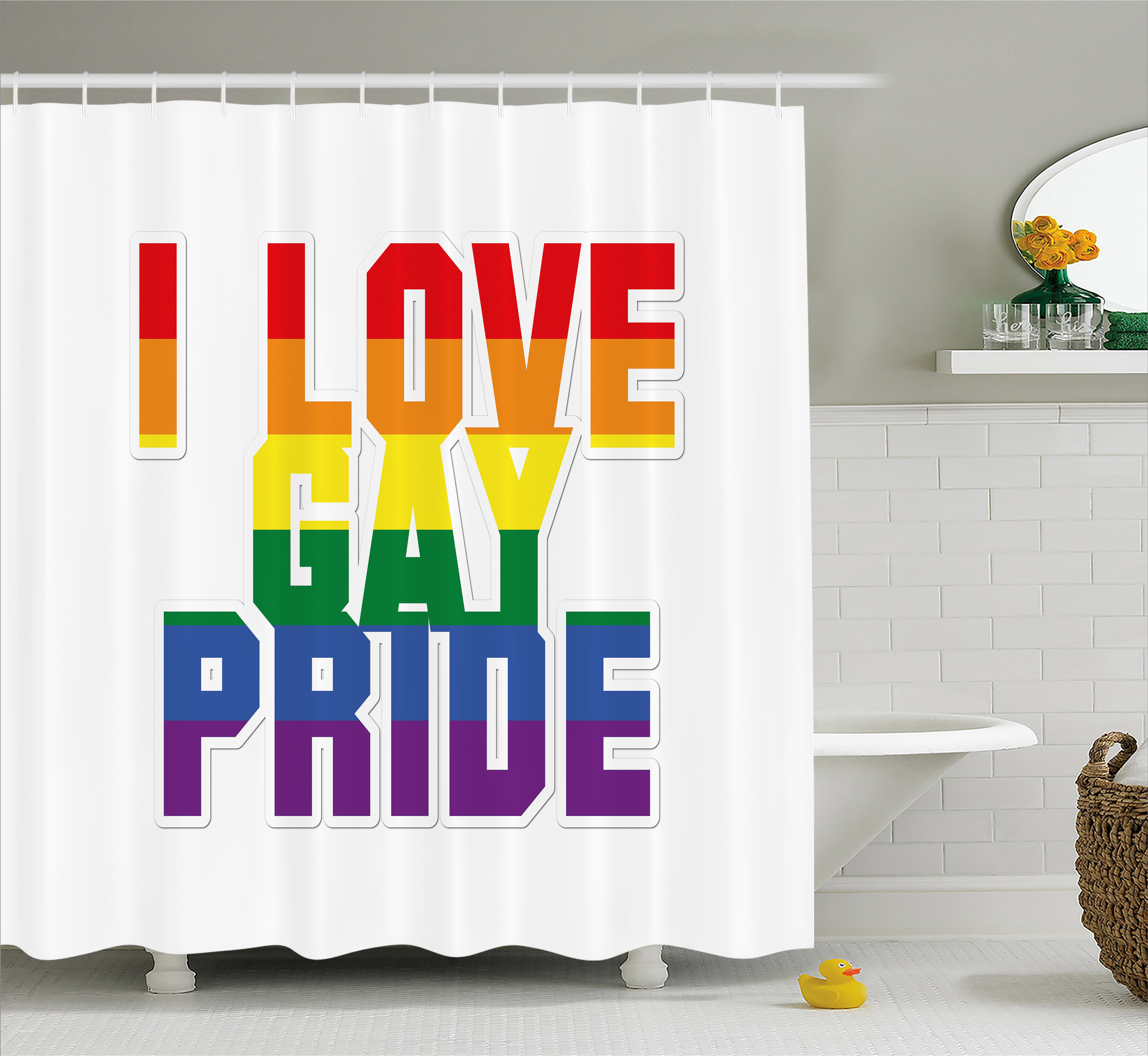 Gay Pride Shower Curtain