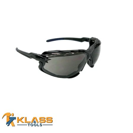 KlassTools Series 8500 Safety Glasses with Grey Lens and Foam Lined Gasket (Size: -