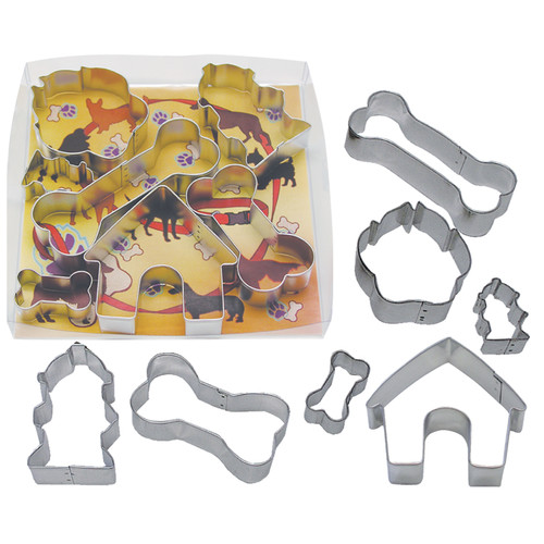 R & M International Corp. 7 Piece Dog Bone Cookie Cutter Set