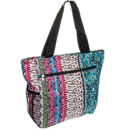 SILVERHOOKS NEW Womens Boho Patchwork Beach Tote Bag - Walmart.com