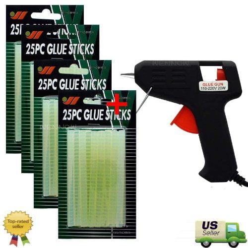 100Pcs Glue Sticks + Free Hot Melt Glue Gun, 100Pcs Glue Sticks + Free Hot Melt Glue Gun By WennoW by