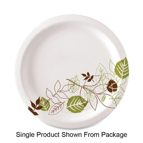"Dixie Pathways Design Everyday Paper Plates - 6.88"" Diameter Plate - Paper - 125/pack (UX7WSPK)"