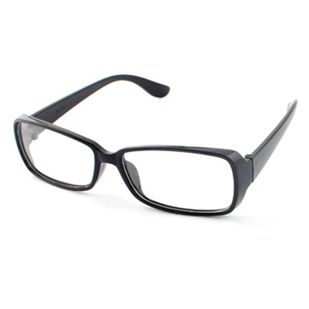 Unisex Rectangle Lens Full Rim Eyewear Plain Plano Glasses Spectacles (Spectacle Frame Sizes)