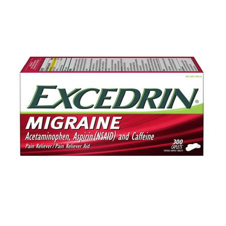Excedrin Migraine Caplets for Migraine Pain Relief, 300