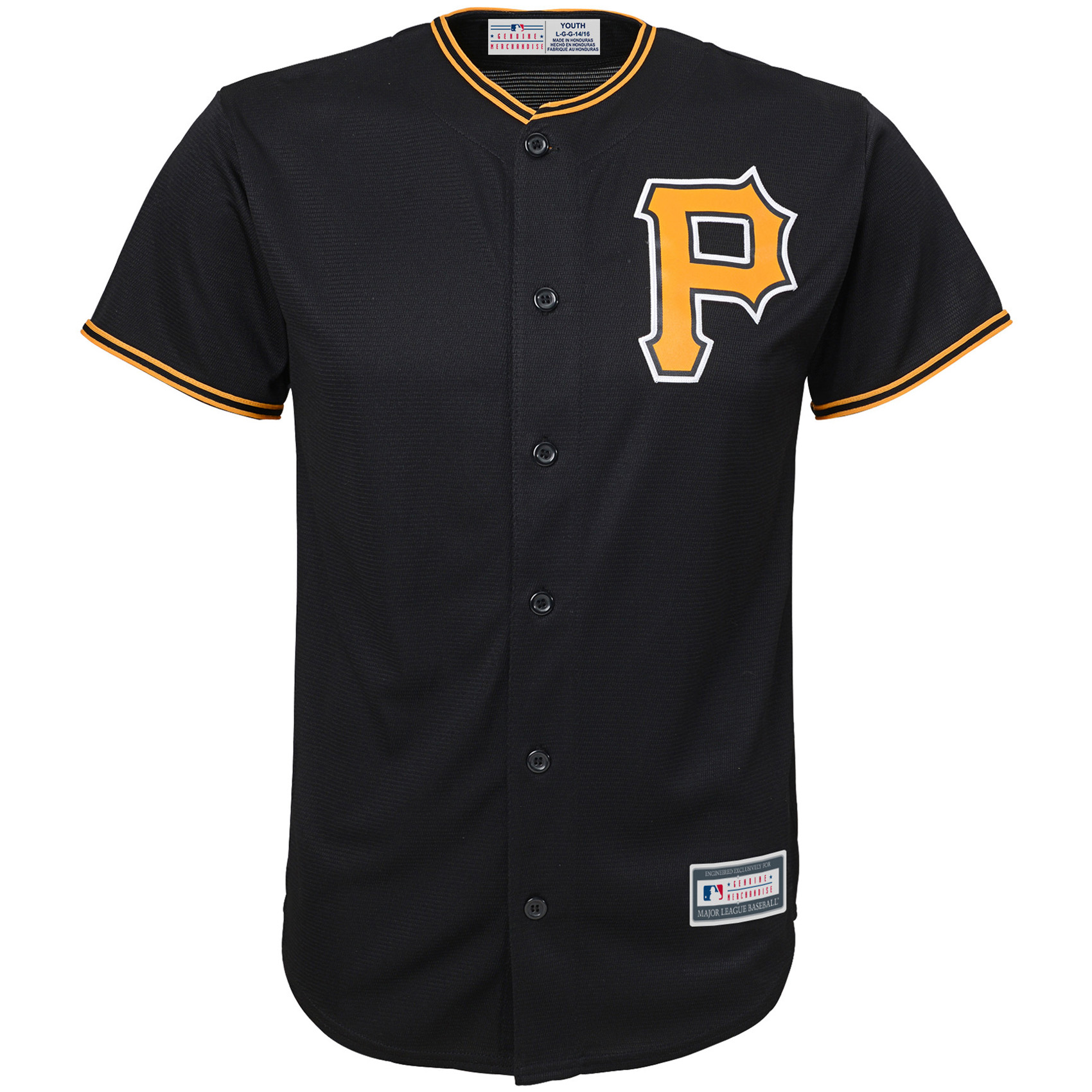 Pittsburgh Pirates Youth Replica Blank Team Jersey - Black