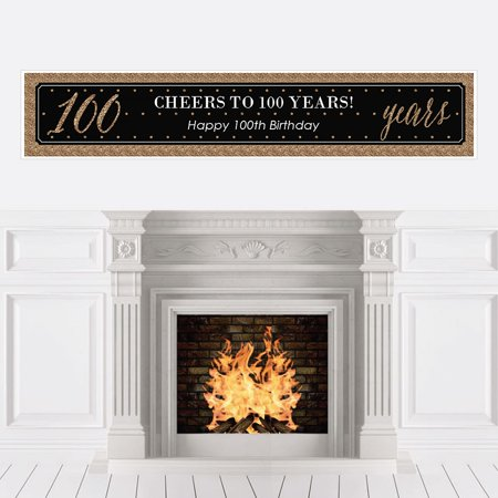 Chic 100th Birthday - Party Decorations Party Banner](100th Birthday Ideas)