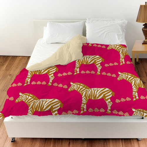 Manual Woodworkers & Weavers Zebra Duvet Cover