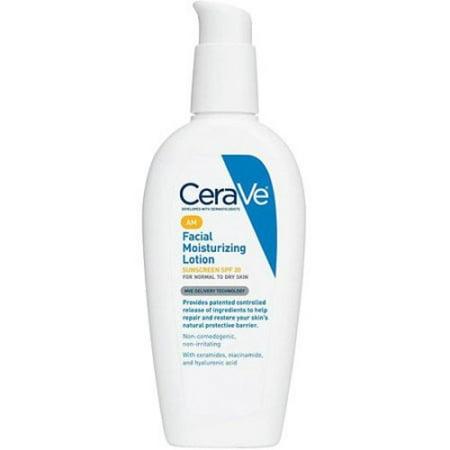 CeraVe Moisturizing Facial Lotion AM, SPF 30, 3 Ounce -