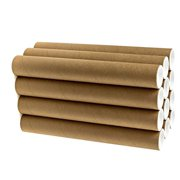 """2"""" x 15"""" Cardboard Mailing Tube 12 Pack with Caps"""