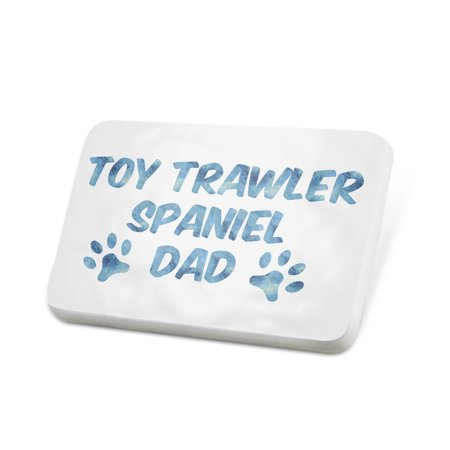 Spaniels Cats (Porcelein Pin Dog & Cat Dad Toy Trawler Spaniel Lapel Badge – NEONBLOND)