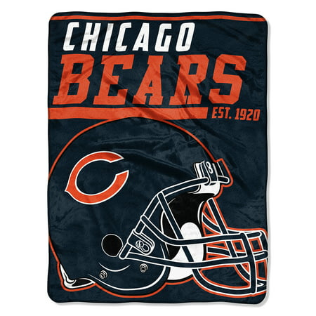 "NFL Chicago Bears ""40-Yard Dash"" 46""x 60"" Micro Raschel Throw"