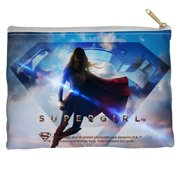 Supergirl Endless Sky Accessory Pouch White 8.5X6