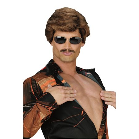Leading Man Brown Wig Adult Halloween - Spirit Halloween Brown Wig
