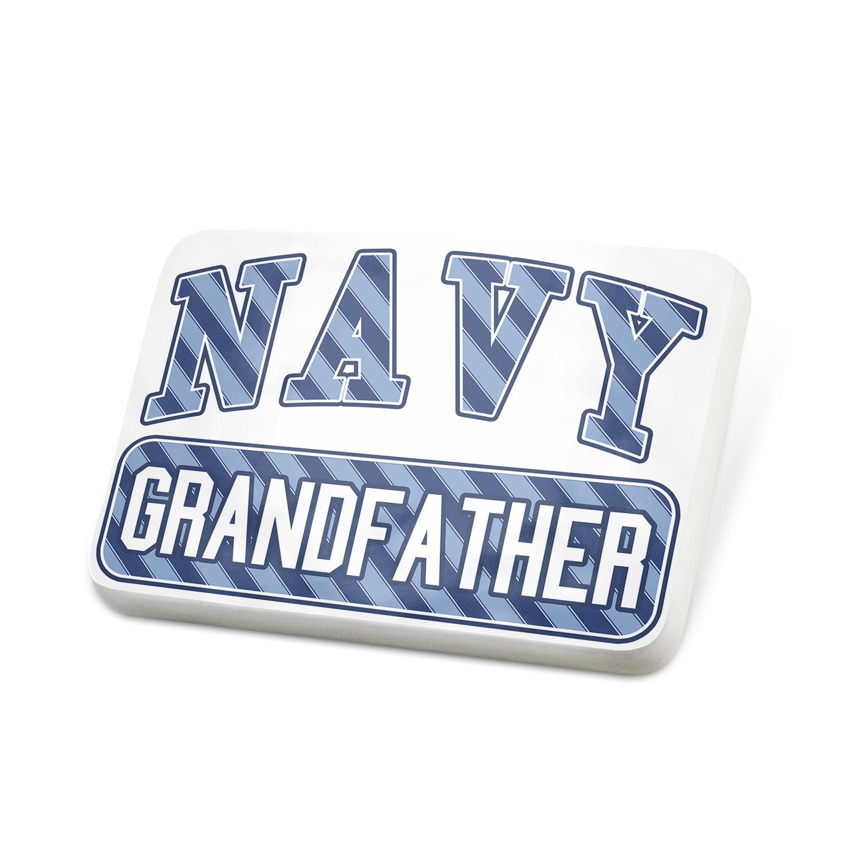 Porcelein Pin NAVY Grandfather, Blue stripes Lapel Badge – NEONBLOND