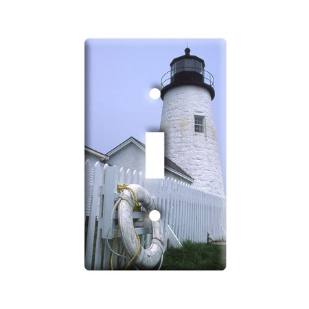 Maine Lighthouse - Pemaquid Point Light Switch Plate Cover