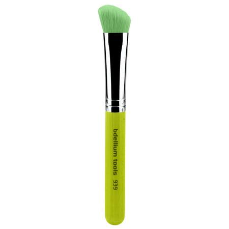 Bdellium Tools Professional Eco-Friendly Vegan Makeup Brush Green Bambu Series - Slanted Detailer (Slant Brush)