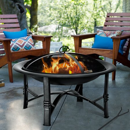"""30"""" Outdoor Fire Pit BBQ Portable Camping Firepit Heater ..."""
