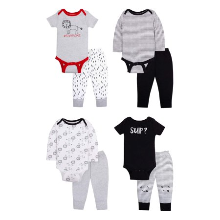 Star-Pack Mix 'n Match Outfits, 8pc Gift Bag Set (Baby Boys)