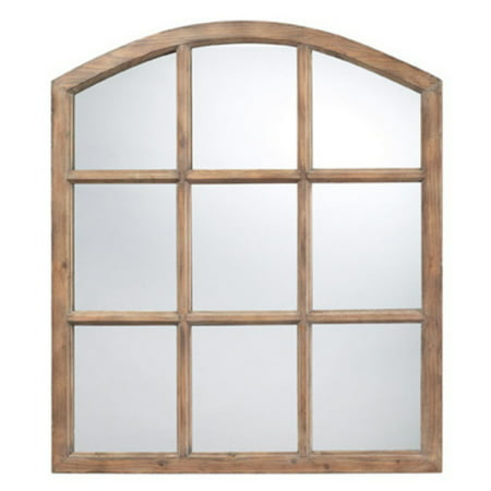 Sterling Industries Union Wood Arched Natural Oak Wall Mirror - 33W x 37