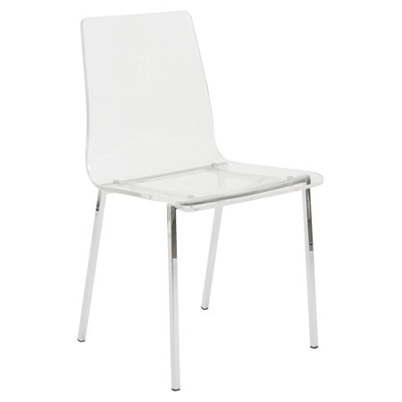Eurostyle Chloe Acrylic Dining Side Chair Clear