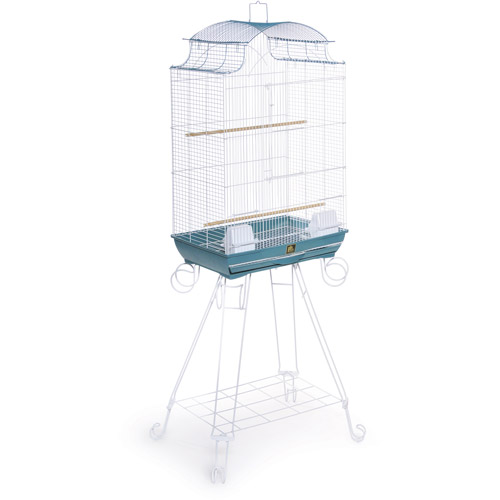 Prevue Pet Products Penthouse Suites Pagoda Roof Birdcage with Stand, Blue/White