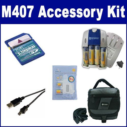HP PhotoSmart M407 Digital Camera Accessory Kit includes:...