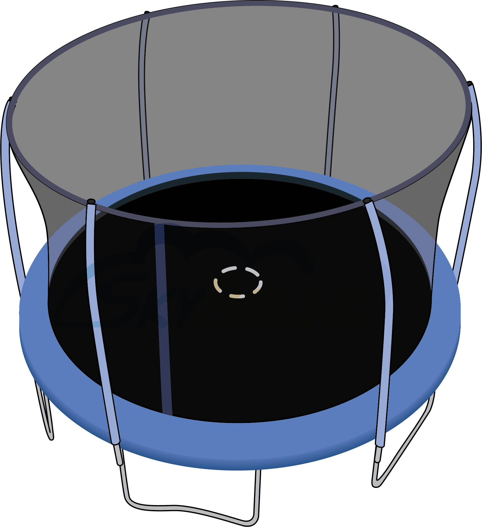 SkyBound 12-Foot Trampoline Net - Fits 6 Poles using a Top Ring