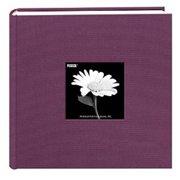 Pioneer 200 Pocket Photo Album - Wildberry Purple Natural Colors Fabric