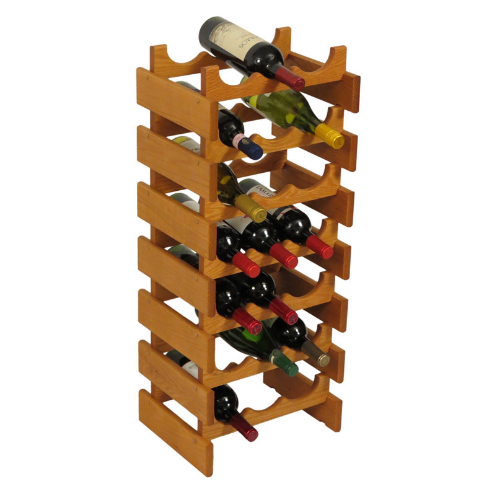 Wooden Mallet Dakota 21 Bottle Floor Wine Rack by Wooden Mallet