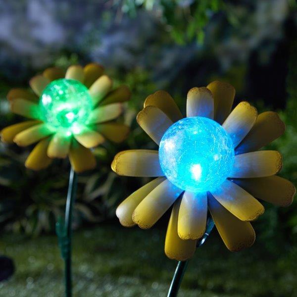 Mainstays Metal Sunflower Powered Decorative Light