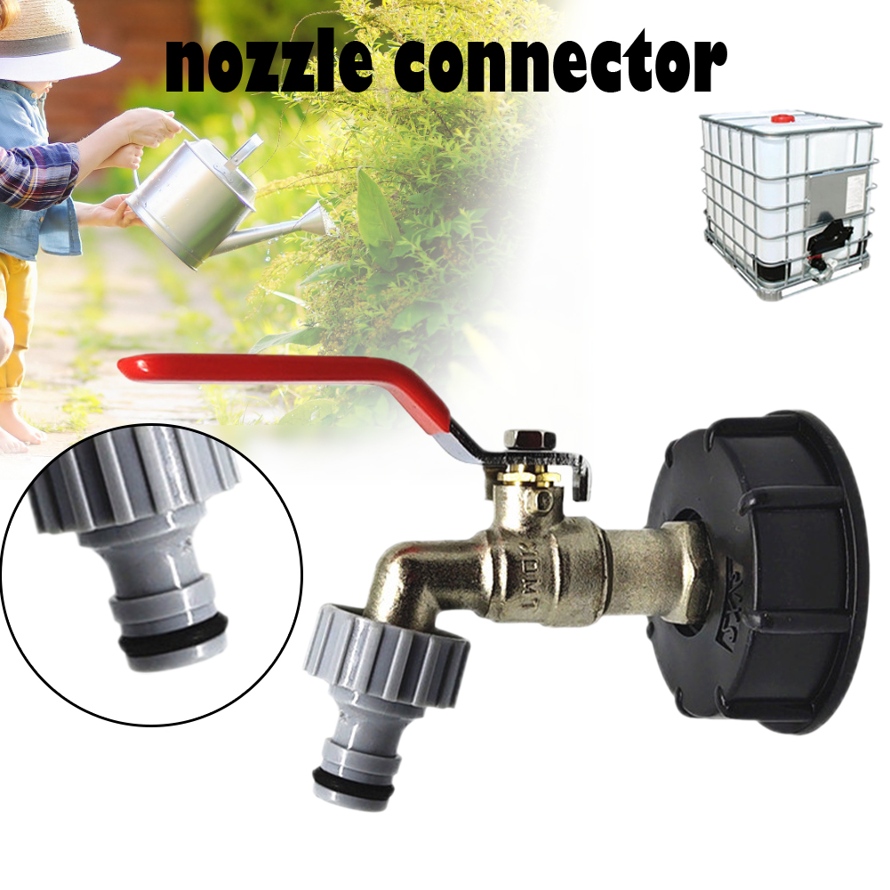 1pcs IBC Tote Tank Adapter 2 Inch Brass Hose Faucet Valve Connector Replacement