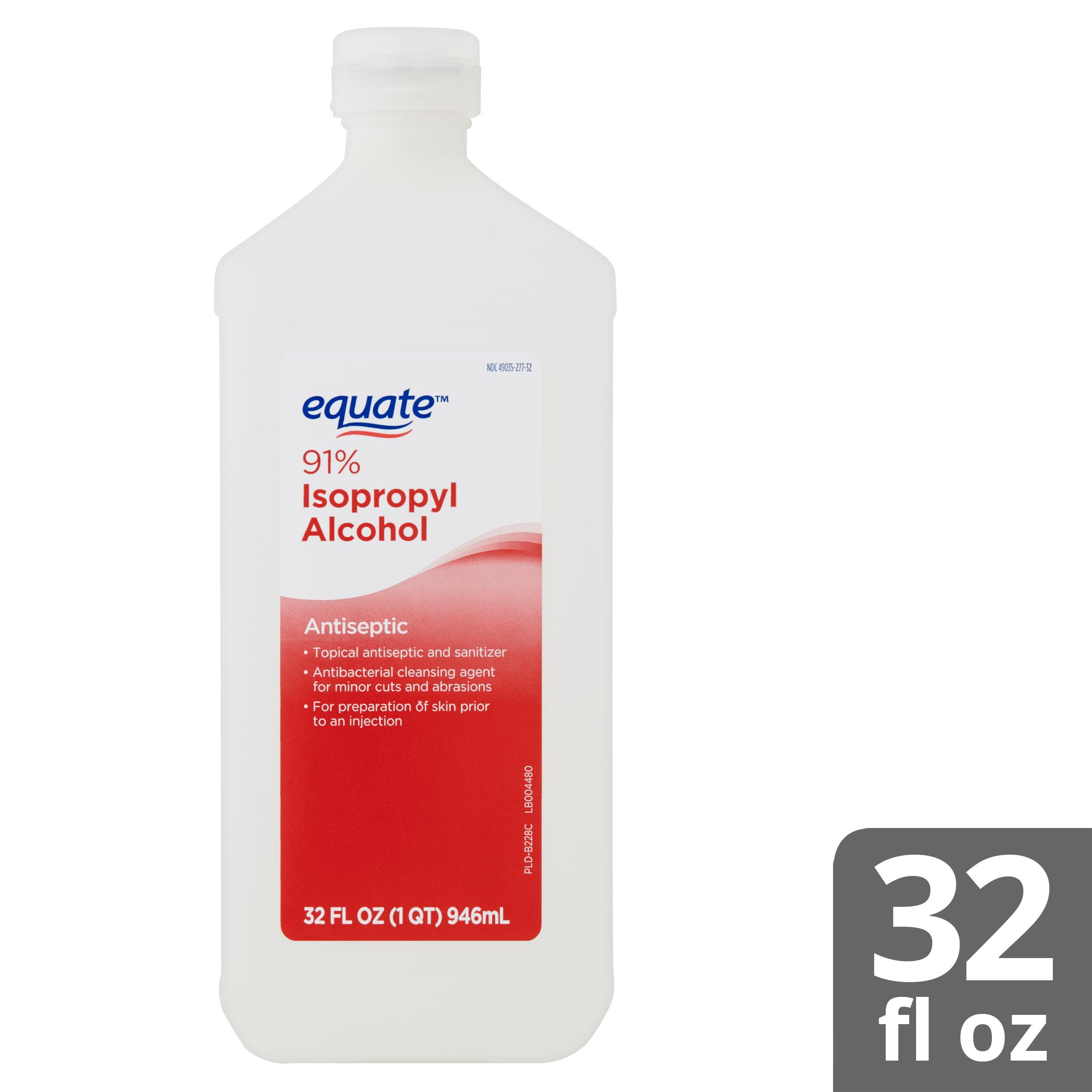 Equate 91% Isopropyl Alcohol Antiseptic, 32 fl oz - Walmart com